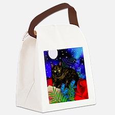 tortoiseshell cat moon 2 copy Canvas Lunch Bag