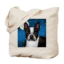 boston terrier moon Tote Bag