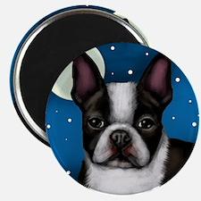 boston terrier moon Magnet