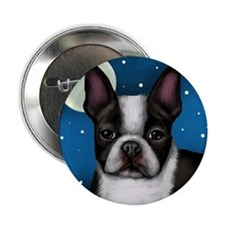 "boston terrier moon 2.25"" Button"