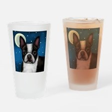 boston terrier moon Drinking Glass