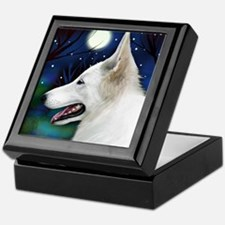 germanshepwhite2 copy Keepsake Box