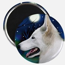 germanshepwhite2 copy Magnet