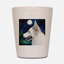germanshepwhite2 copy Shot Glass