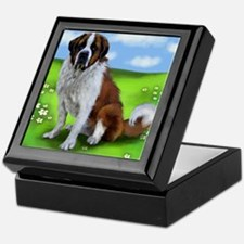 saint bernard copy Keepsake Box
