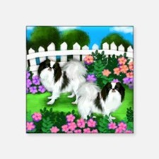 "japanise chin garden copy Square Sticker 3"" x 3"""