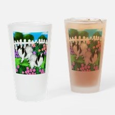japanise chin garden copy Drinking Glass