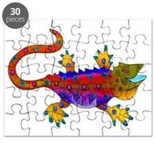 Red & Blue Terror Lizard Puzzle