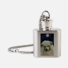 Samoyed print 2 Flask Necklace