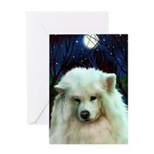 Samoyed print 2 Greeting Card