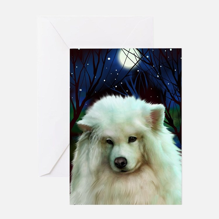 Samoyed print 2 Greeting Card