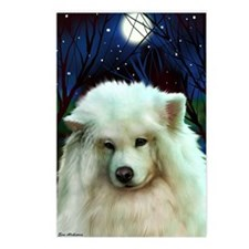 Samoyed print 2 Postcards (Package of 8)
