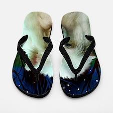 Samoyed print 2 Flip Flops