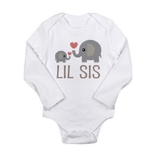 Lil Big Sis Long Sleeve Infant Bodysuit