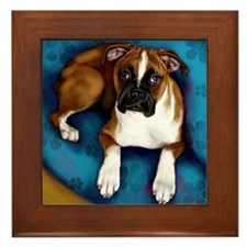 boxerpupsofa copy Framed Tile