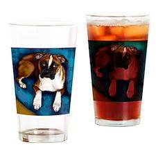 boxerpupsofa copy Drinking Glass