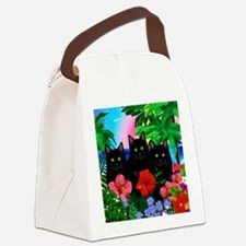 beachparadise bl cats Canvas Lunch Bag