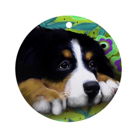 bernese9 copy Round Ornament