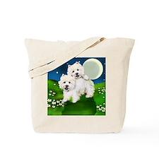 westies moon Tote Bag