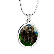 boykin sp moon Silver Round Necklace