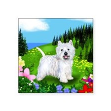 "westie mount Square Sticker 3"" x 3"""