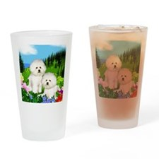 bichon mount Drinking Glass