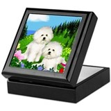 Bichon frise Keepsake Boxes