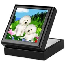 bichon mount Keepsake Box