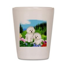 bichon mount Shot Glass
