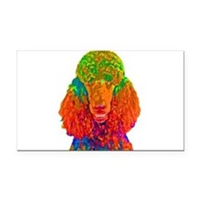 Psychadelic Poodle Rectangle Car Magnet