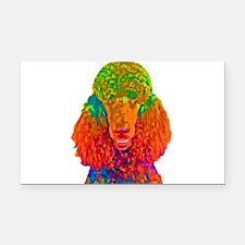 Psychadelic Poodle Rectangle Car Magnet