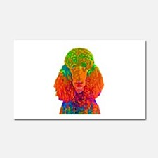 Psychadelic Poodle Car Magnet 20 x 12