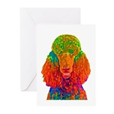 Psychadelic Poodle Greeting Cards (Pk of 10)
