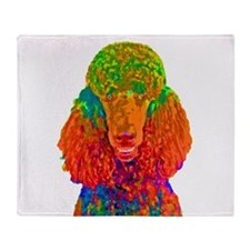 Psychadelic Poodle Throw Blanket