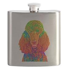 Psychadelic Poodle Flask