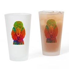 Psychadelic Poodle Drinking Glass