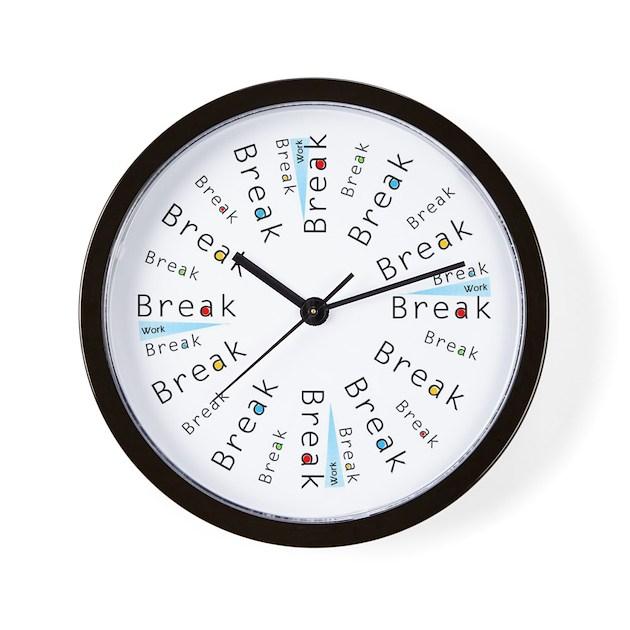 It S Break Time Clock By Pbsblog