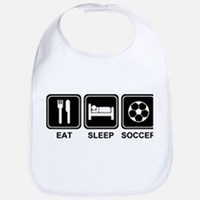 EAT SLEEP SOCCER Bib