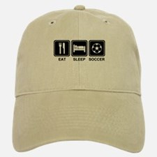 EAT SLEEP SOCCER Baseball Baseball Cap