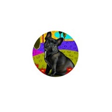 frenchblackbulldog pillow Mini Button
