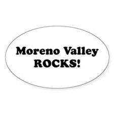 Moreno Valley Rocks! Oval Decal