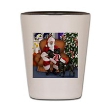 pugs bl santa Shot Glass