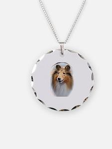 collie head Necklace