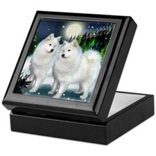 samoyed mountinedogs copy Keepsake Box