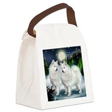 samoyed mountinedogs copy Canvas Lunch Bag