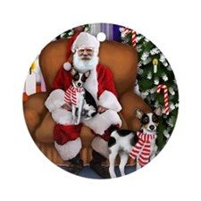 santa clous ratter copy Round Ornament
