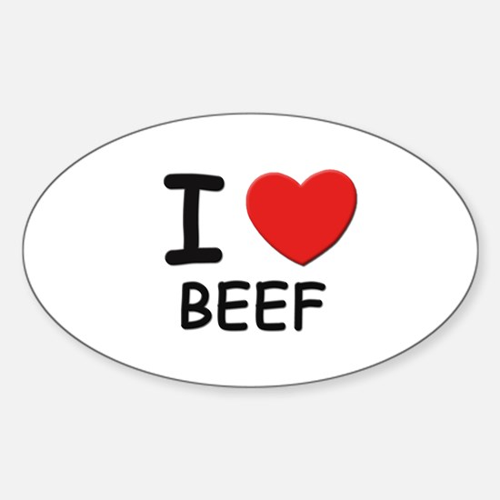 I love beef Oval Decal