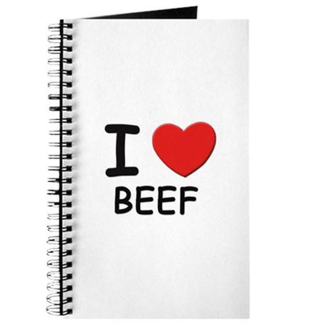 I love beef Journal