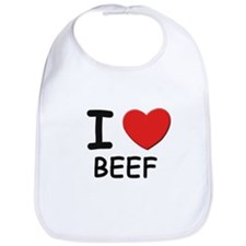 I love beef Bib