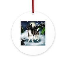 mountinedogBRAKITA Round Ornament